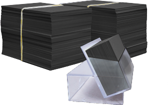 Blanco Zwarte Kaartjes 5,5x8,5cm