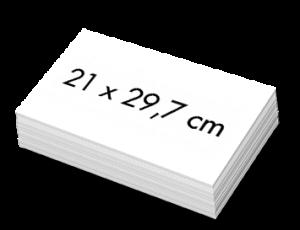 Blanco A4 Kaarten 21x29,7cm