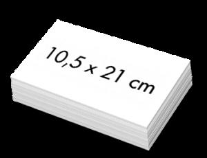 Blanco Witte Kaartjes 10,5x21cm
