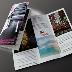 6 pagina's (14x29,7cm) 1/3 DIN-A3