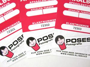 Klantenkaartjes, inclusief nummering