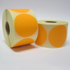 80 mm rond Fluor Oranje