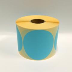 Stickers op rol  100 mm rond Mat Blauw (kleine aantallen)
