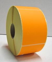 Stickers op rol 70 x 100 mm Fluor Oranje