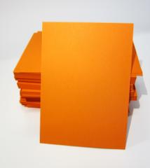 Blanco A6 (10,5x14,8cm) Oranje Kaarten