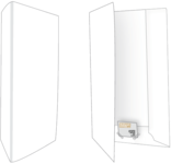 500 Mat Witte Mappen Mappen Blanco