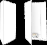 750 Mat Witte Mappen Mappen Blanco